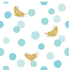 glitter confetti butterflies and polka dots vector image