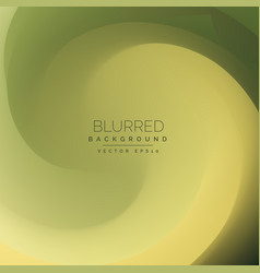 Green swirl background in blur style vector