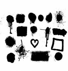 grunge mark set vector image