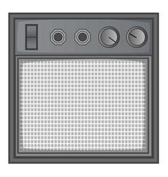 Guitar amplifier icon monochrome vector
