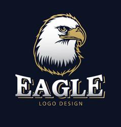 hawk eagle head usa americs logo mascot 16 vector image