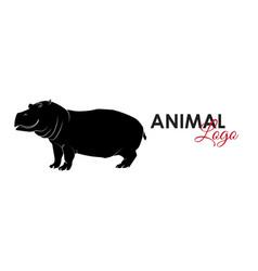 hippopotamus hippo icon logo symbol vector image