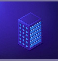 isometric proxy server and ip concept vector image