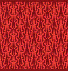 Japanese red seamless wave pattern traditional vector