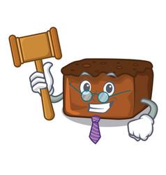 Judge brownies mascot cartoon style vector