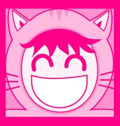 Kid cat vector