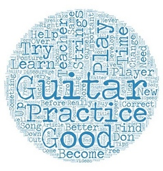 Learn to Play Guitar Free Tips for Beginner Guitar vector