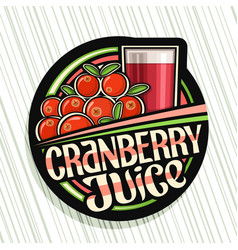 Logo for cranberry juice vector