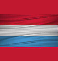 luxembourg flag flag of luxembourg blowig in the vector image