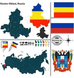 Map of Oblast of Rostov vector