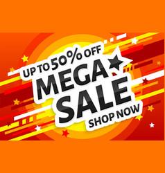 Mega sale poster vector