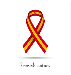 modern colored ribbon with the spanish colors vector image