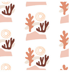 modern natural abstractions seamless pattern vector image