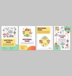 national park brochure template layout forest vector image