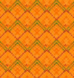 Orange diamond with green details vector
