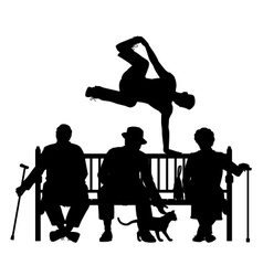 Park bench parkour vector image