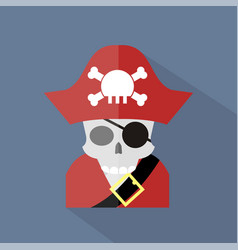 pirate icon set of great flat icons design vector image