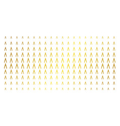 pliers golden halftone array vector image