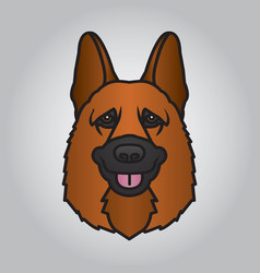 Police dog head and mascot good for symbol vector