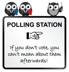 Polling Station Sign vector