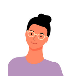Pretty woman in glasses isolated worker character vector