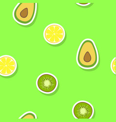Seamless pattern with citrus fruits vector