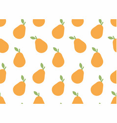 seamless pattern with pear vector image