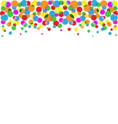 set multicolored circles isolated on white vector image