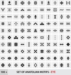 Set of Anatolian Turkish Motifs - Eye vector
