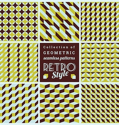 Set of seamless geometrical patternsVintage vector image