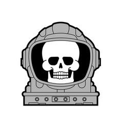 Skull in astronaut helmet isolated death vector