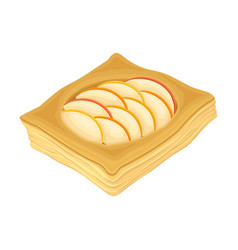 Tasty wheat pastry with sweet filling food vector