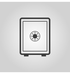 The safe icon Safe symbol Flat vector image