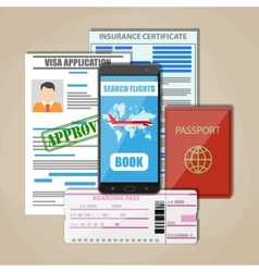Travel documents concept vector image