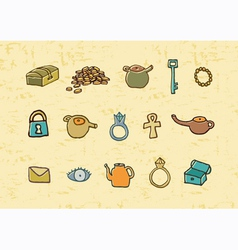 Treasure elements vector image