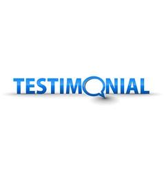 web testimonial icon vector image vector image