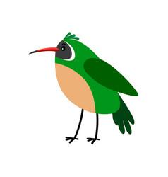 Xantus green cartoon bird icon vector