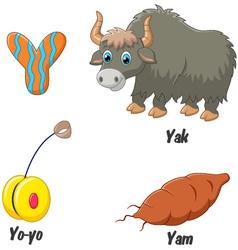 Y alphabet vector image