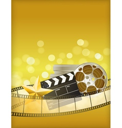 cinema golden background vector image vector image