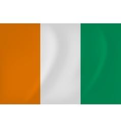 Cote d Ivoire waving flag vector image