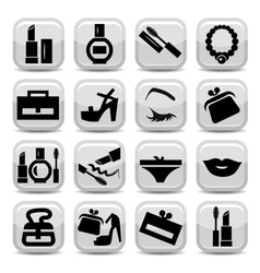fashion icons vector image