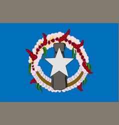 flag of northern mariana islands usa saipan - vector image vector image