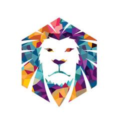 lion head logo template creative vector image
