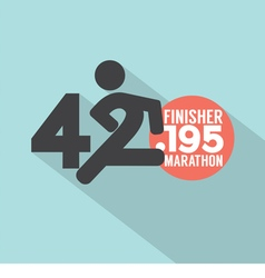 Marathon Finisher Typography Design vector image vector image