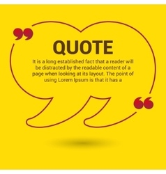Quotation Bubble Web banner template vector image vector image