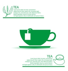 tea cup simple green infographics theme eps10 vector image vector image
