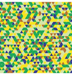 triangles background green yellow vector image vector image