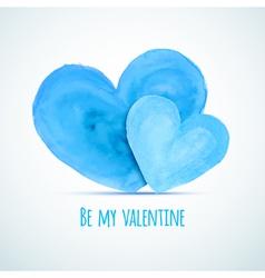 watercolor hearts for homosexual couples vector image vector image