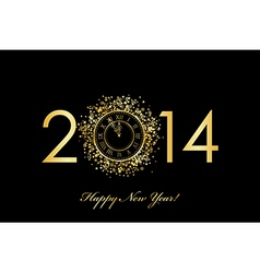 2014 new year clock vector image vector image