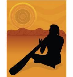 aboriginal silhouette vector image